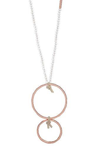 LIZAS Halskette White Rose Rings 90cm Rosegold White