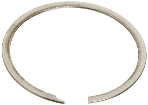 Standard External Retaining Ring, Spiral, Axial Assembly, 302 Stainless Steel, Passivated Finish, 3/4' Shaft Diameter, 0.042' Thick, Made in US (Pack of 5)