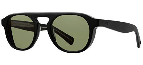 Gafas de Sol Garrett Leight HARDING X Matte Black/Valley View Green 49/23/140 unisex