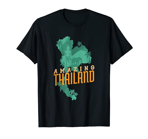 Tailandia Sudeste Asiático Bangkok Asia Regalo de viaje de Camiseta