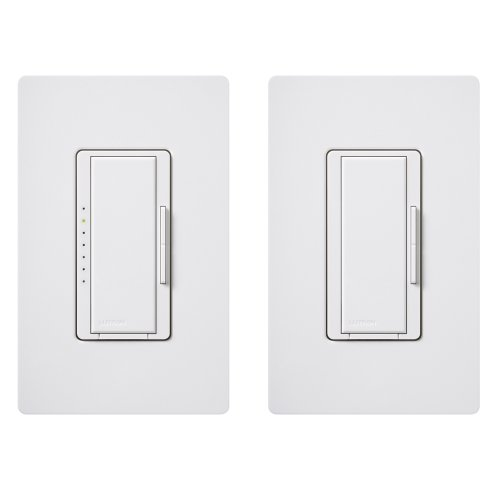 Lutron MACL-153M-RHW-WH Maestro 150-Watt Multi-Location CFL/LED Digital Dimmer Kit