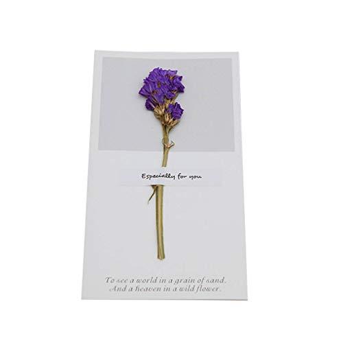 UHAoo Hochzeit Trockenblumen Einladungen Postkarten Hochzeit Geburtstags-Party-Festival Grußkarte