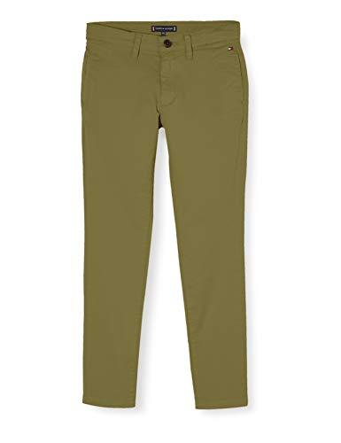 Tommy Hilfiger Jungen Essential Skinny Chino Th Flex Hose, Grün (Uniform Olive 548-640 L8q), One Size (Herstellergröße: 86)