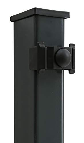 DS-Zaunpfahl anthrazit RAL 7016 K 60/40/2400 mm, für Zaun 1830 mm hoch, Pfostenlänge 2400 mm
