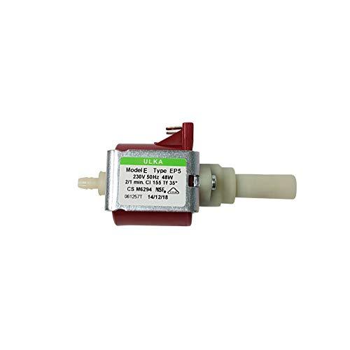 Lichtblau Pumpe Ulka EP5 48W 230V passend für Whirlpool Bauknecht 481236018581 DeLonghi 5132106900 Philips 422245945091