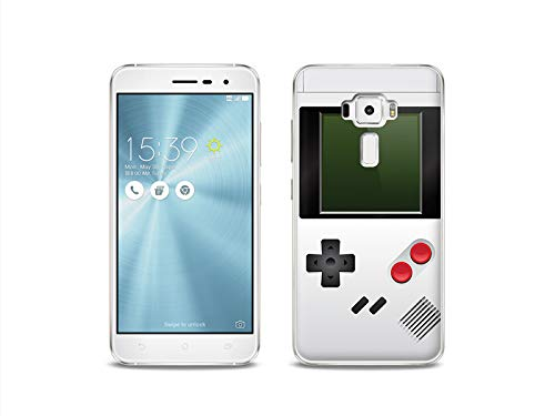 etuo Handyhülle für ASUS Zenfone 3 (ZE520KL) - Hülle, Silikon, Gummi Schutzhülle - Weißes Game Boy