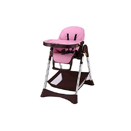 CML Salle à bébé Chaise Enfant Chaise réglable Sitting Enfant Portable Multifonctionnel Manger bébé Siège de Table Rose Facile à Utiliser (Color : Pink)