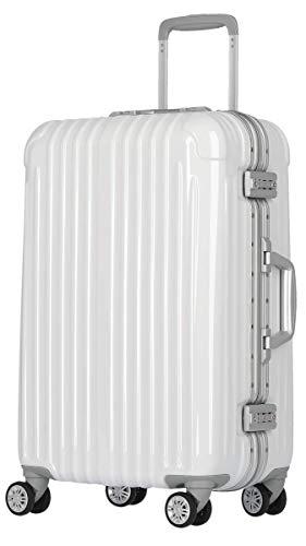 [luckypanda(ラッキーパンダ)] TY1907 スーツケース 機内持込 キャリーバッグ 機内持ち込み 小型 フレーム 1年修理保証対応 TSAロック ハード キャリーバック キャリーケース Sサイズ ホワイト