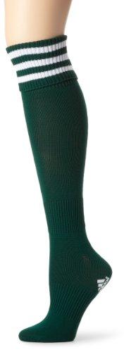 adidas 3-Stripes II fútbol Calcetines, Mujer Niños niña, 338890, Forest/White, Medium