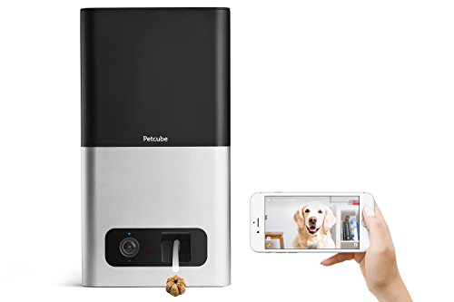Petcube Bites Caméra Wi-FI Interactive: Lanceur de friandises, Vidéo HD 1080p, Audio Bidirectionnel, Vision Nocturne