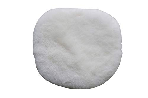 MILABERT Genuine sheepskin Charles Ray Eames style chair seat pad cushions DSW | DSR | DSS | eIFFEL | Soft cozy warm wool White