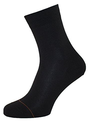 Albert Kreuz Damen Socken Baumwolle mit Cashmere Innenseite Schwarz, 42-44