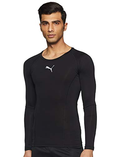 Puma Herren LIGA Baselayer Tee LS Shirt, Black, 2XL