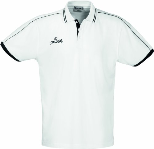Spalding 300279701 Polo Mixte, Blanc, FR (Taille Fabricant : XXL)
