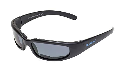 Bluewater polarisées 6 lentilles de fumée Flottant avec ventilé en Mousse EVA (Noir Mat, Petite Taille)