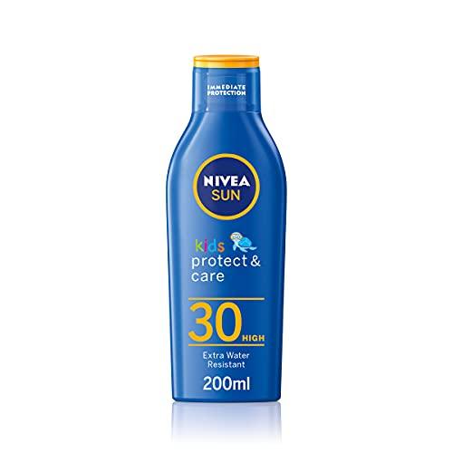 NIVEA SUN Kids Moisturising Sun Lotion SPF 30 (200ml), Moisturising...