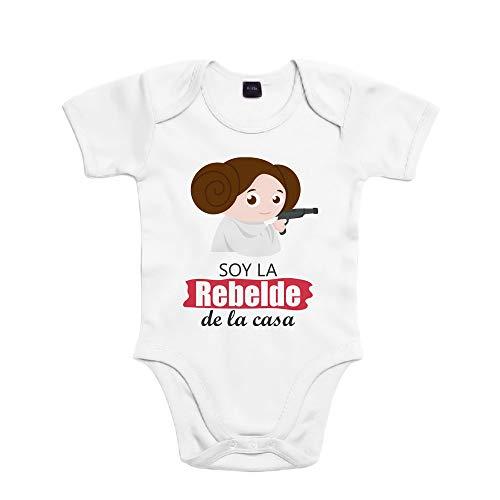 SUPERMOLON Body bebé algodón niña Soy la rebelde de la