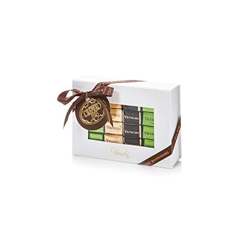 Venchi Cioccolatini Cremini Assortiti In Scatola Regalo Bianca- Versioni 1878, Pistacchio, Extra Fondente, Bianco - Senza Glutine - 166 Gr