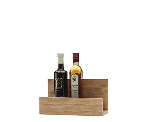 QONTUR Estantería de cocina de madera de roble maciza, 30 cm de ancho, se puede utilizar como soporte para tabla de cortar, especias, vino, aceite y vinagre
