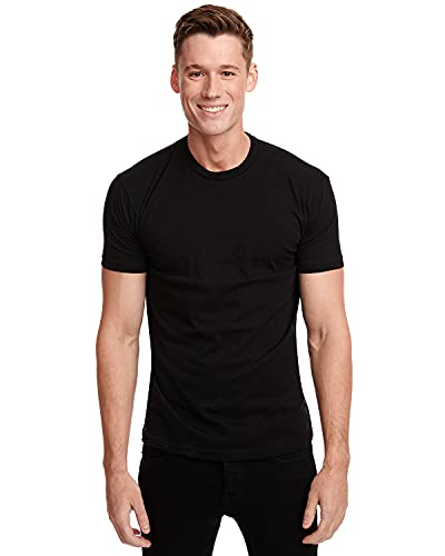Next Level Mens Premium Fitted Short-Sleeve Crew T-Shirt - Large - Black