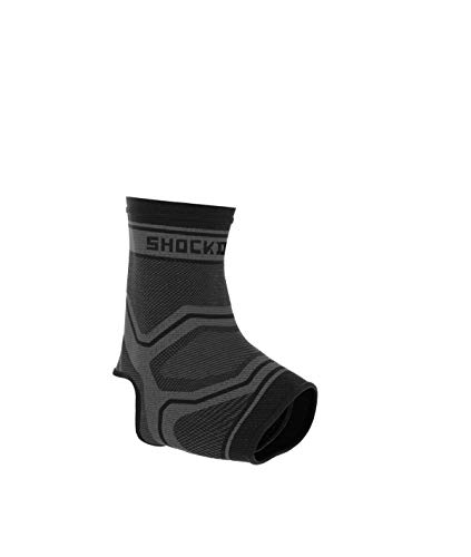 Shock Doctor Comp Knit Ankle SLV Gry/Blk A/L