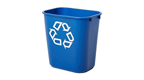 Rubbermaid Commercial Products FG295673BLUE Polyethylen Papierkorb, rechteckig, 26,6 L, B365 mm x T260 mm x H380 mm, Blau