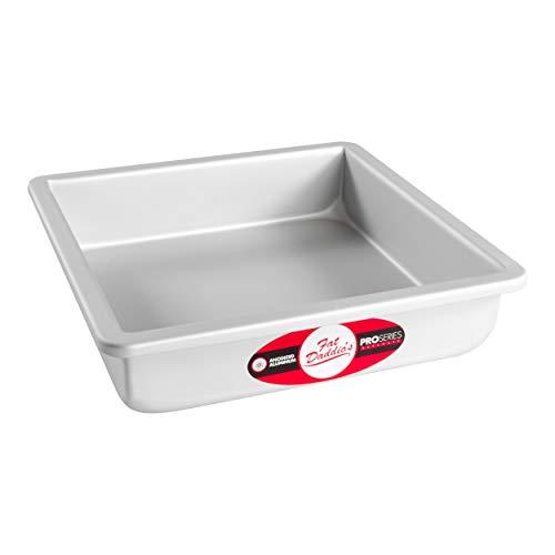 Fat Daddio's Square Cake Pan, 8 x 2 Inch, Silver