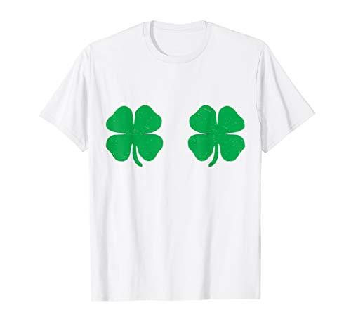 Irish Shamrock Boobs Saint St.Patrick's Paddys Day T-Shirt