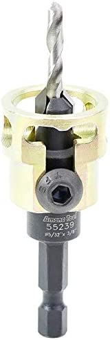 popular Amana online sale Tool - 55239 Carbide Tipped Adjustable Countersink wholesale with Depth-Stop 3/8 Dia x 49 Degr sale