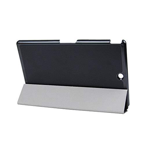 Kepuch Custer Hülle für Sony Xperia Z3 Tablet Compact,Smart PU-Leder Hüllen Schutzhülle Tasche Hülle Cover für Sony Xperia Z3 Tablet Compact - Schwarz