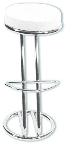 Cargador Muebles 4001070439178 Taburete, 83 x 40 cm, de Metal, Plata
