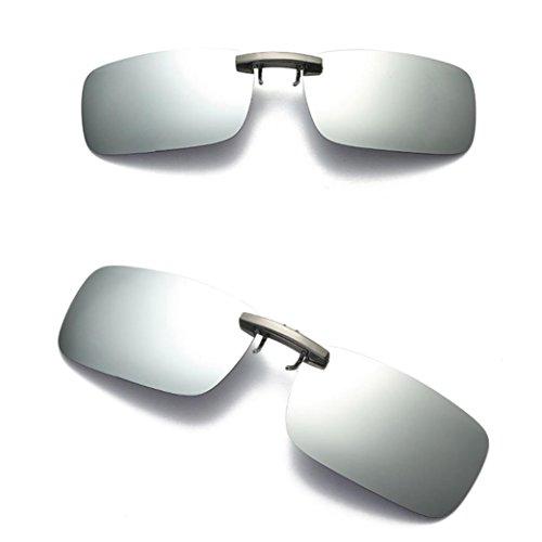 Homebaby® Clip Occhiali da Sole Uomo Donna Retro