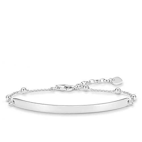 Thomas Sabo Damen-Armband Love Bridge 925 Sterling Silber Länge von 16.5 bis 19.5 cm Brücke 5.4 cm LBA0044-001-12-L19,5v