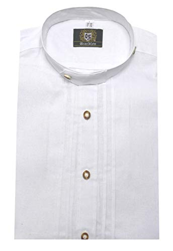 Orbis Textil Stehkragen Trachtenhemd Weiss M