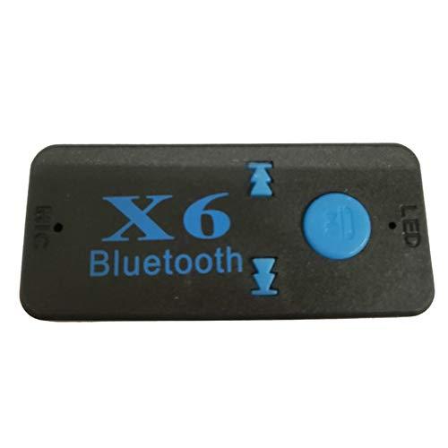 Coche manos libres llamada música adaptador x6 audio receptor coche audio adaptador enchufable Tf tarjeta portátil Walkman