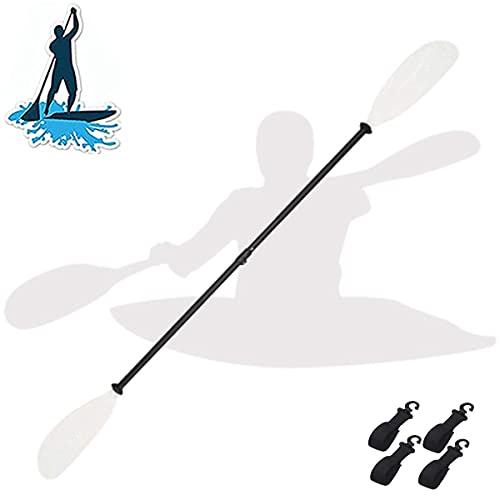 BGSFF Remi da Canoa a Doppia estremità, pagaie per Kayak Bianche, Staccabili, pagaie Leggere per Sport Acquatici, Lame Regolabili su...