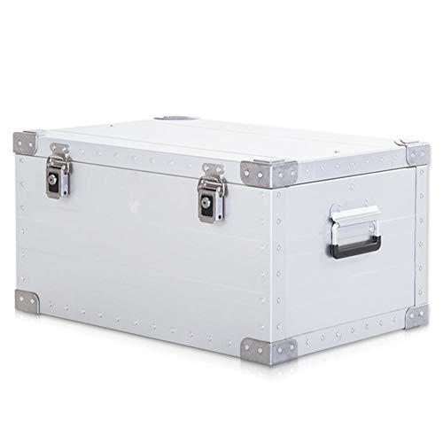 Maleta Vintage, Gran Capacidad conexión de Remache sólido Caja de Almacenamiento Caja de Almacenamiento Caja de Almacenamiento de Coche al Aire Libre Aleación de Aluminio y magnesio, 5 tamaños GGYMEI