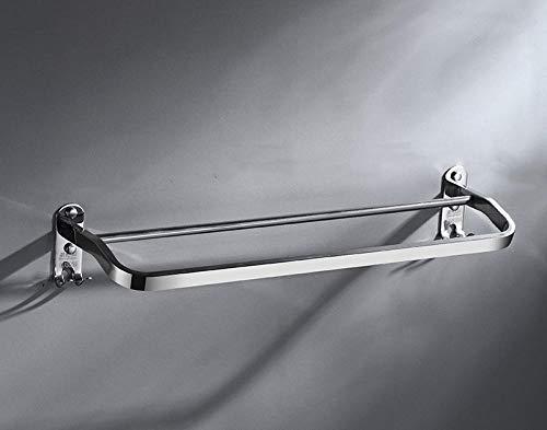 Baño del hotel 304 Barra de toalla de acero inoxidable Punch gratis Individual Doble Ware Ware Almacenamiento colgante-59.5cm