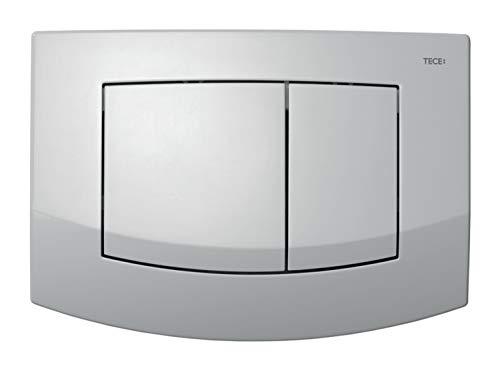 TECEambia WC Betätigungsplatte (für Zweimengenspülung, Betätigung von oben + vorne, für Spülkästen) chrom, 9240225