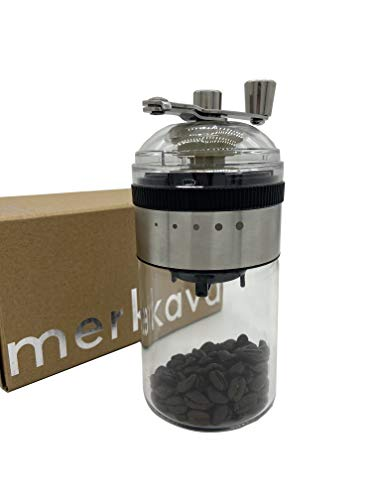 Merkava Manual Coffee Grinder,Conical Burr Mill, Gear Design, Adjustable Thickness, Folding Rocker Arm,Best Ceramic Burr Coffee Grinder for Espresso,French Style Press,Turkish Brew,Large Capacity