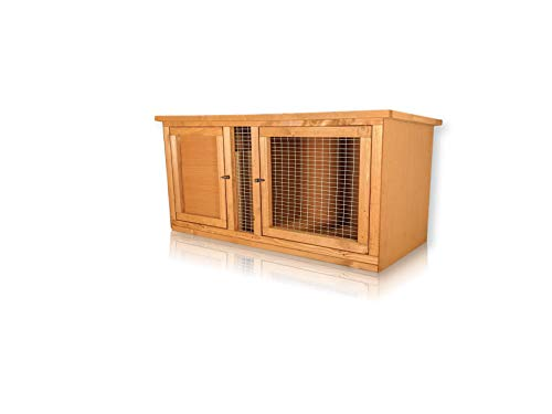 Rabbit Guinea Pig Chinchilla Hutch Cage Fully Assembled (3ft)