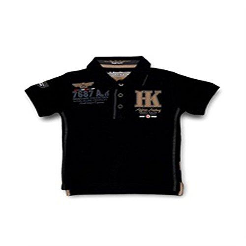 Harry Kayn SRK-Polo manches courtes Garçon 3/8 ans ECAYN38- noir-8 ans
