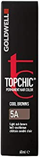 Goldwell Topchic Hair Color, 5a Light Ash Brown, 2.03 Ounce