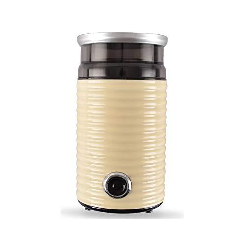 Molinillo de café eléctrico, pequeño con cuchillas de acero inoxidable y potente molinillo de motor Molinillo de café seguro y duradero Adecuado para granos de café, especias, pimi