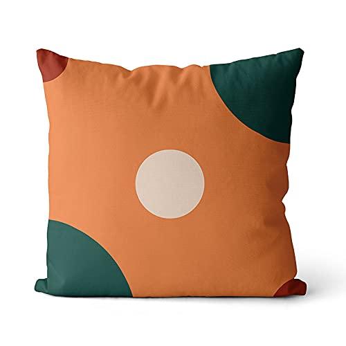 KLily Fodera per Cuscino Decorativo A Blocchi di Colore Geometrico Cuscino per Sedile da Ufficio Fodera per Cuscino Quadrato Fodera per Cuscino Rimovibile E Lavabile per Divano A Casa