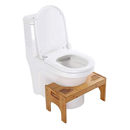 Toilettenhocker Holz, Squatty Potty, WC Hocker Erwachsene, Höhenverstellbar Squatty Toilettenhocker für gegen Hämorrhoiden Verstopfung Blähungen, Ältere Menschen Kinder Schwangere 48.5 x 27 x 25 cm