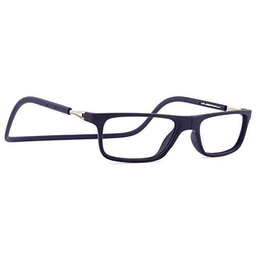 DIDINSKY Magnetische Blaulichtfilter Brille für Damen und Herren. Blaufilter Brille für Gaming oder Pc. Gummi-Touch-Tempel und Blendschutzgläser. Indigo +2.0 – FARADAY