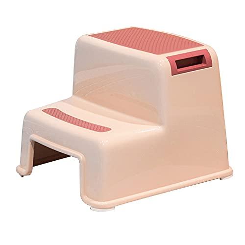 XYW Taburete de Escalera - Taburete de bebé Stail de niños Taburete Antideslizante Lavado de Mano Tocador de tocador de tocador de tocador (Color : #1)