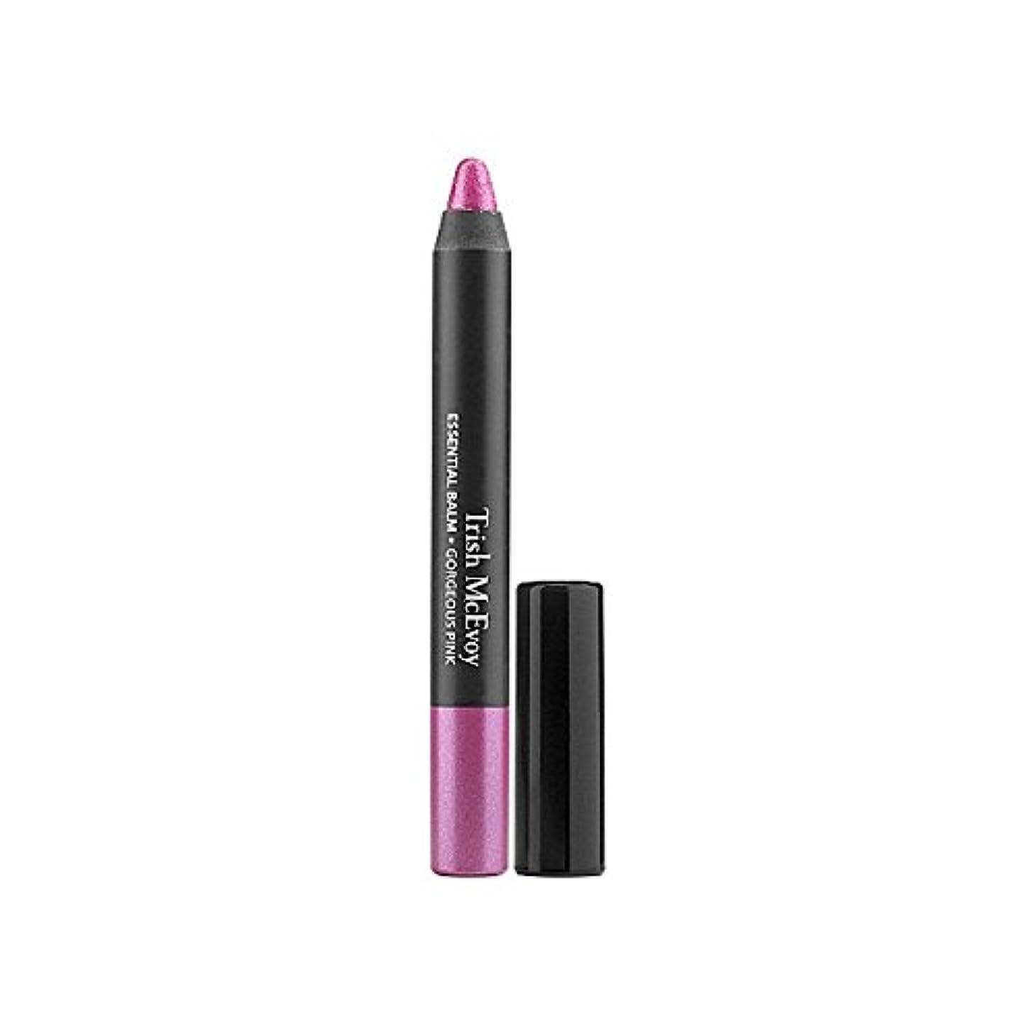 浪費パフ検査トリッシュ?マクエボイ不可欠バーム - 華やかなピンク x4 - Trish Mcevoy Essential Balm - Gorgeous Pink (Pack of 4) [並行輸入品]
