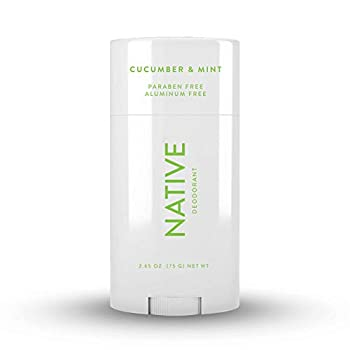 Native Deodorant - Natural Deodorant for Men and Women - Vegan Gluten Free Cruelty Free - Contains Probiotics - Aluminum Free & Paraben Free Naturally Derived Ingredients - Cucumber & Mint